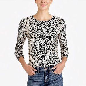 J crew Mercantile Leopard Teddie sweater